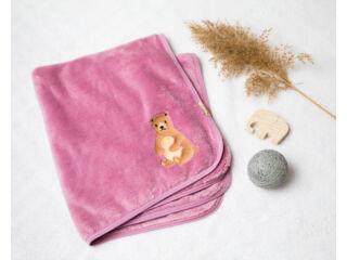 Maci mintás mályva takaró