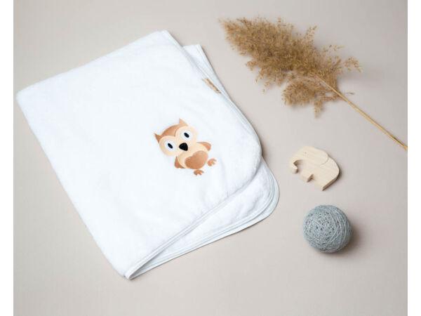 Bagoly mintás fehér takaró